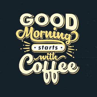 Typographie lettrage café