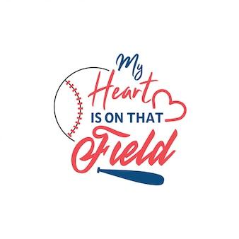 Typographie de lettrage de citation de baseball
