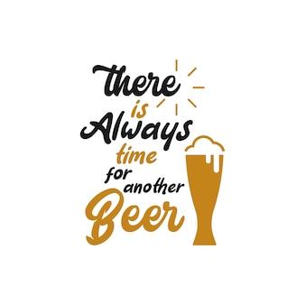 Typographie de lettrage de citation de bière