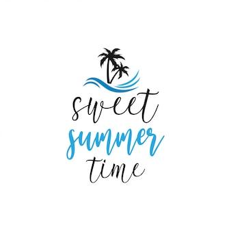 Typographie de lettrage citation d'été