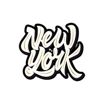 Typographie de lettrage de new york