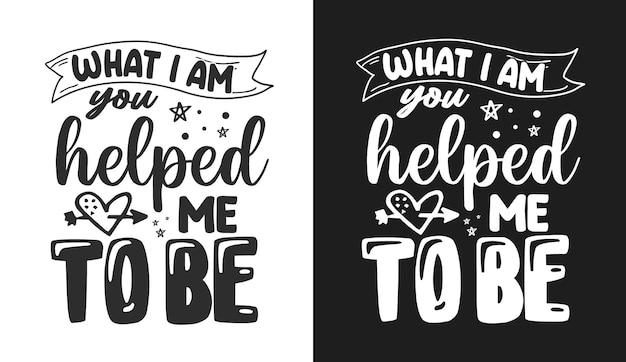 La typographie de maman cite le tshirt et la marchandise