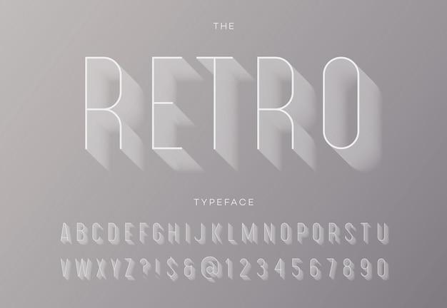 Typographie à la mode de l'alphabet moderne vintage sans empattement style de couleur pour l'affiche de la fête