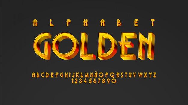 Typographie moderne avec un bel effet doré