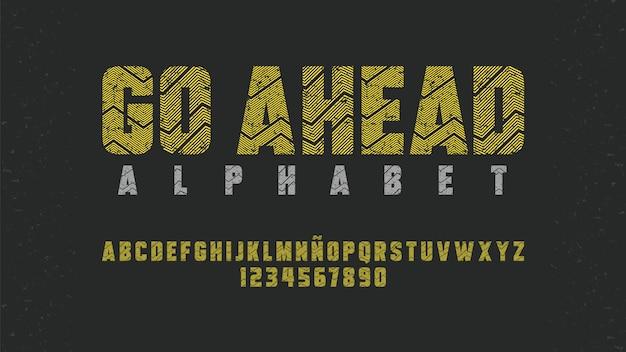 Typographie moderne avec un bel effet de lignes