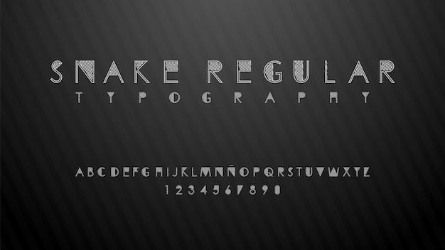 Typographie moderne avec effet de belles lignes
