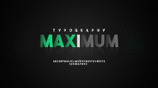 Typographie moderne avec effet demi-teinte