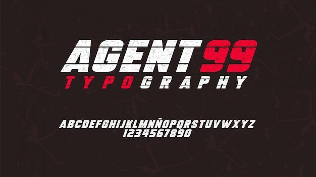 Typographie moderne avec effet usé