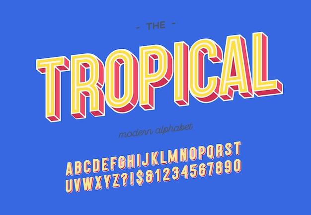 Typographie moderne pour l'affiche de la fête d'été