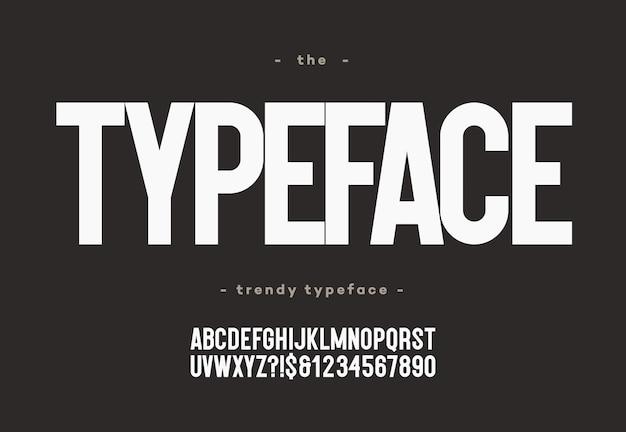 Typographie moderne de style audacieux pour la décoration