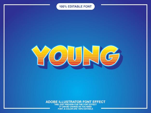 Typographie modifiable illustrateur jeune style graphique