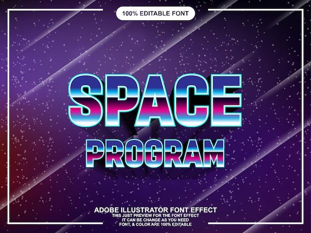 Typographie modifiable illustrator de style graphique classique rétro