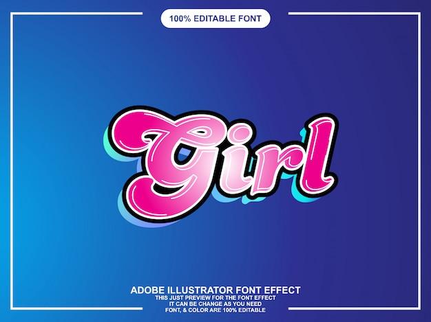 Typographie modifiable par effet de texte moderne