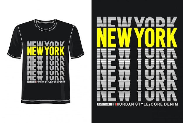 Typographie de new york pour t-shirt imprimé