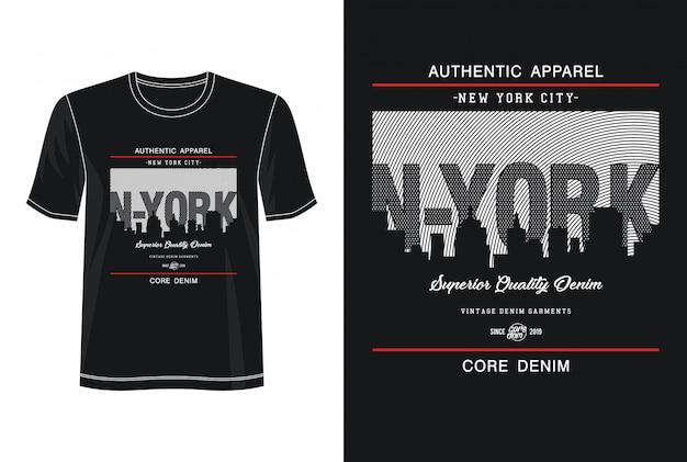 Typographie de new york pour tshirt