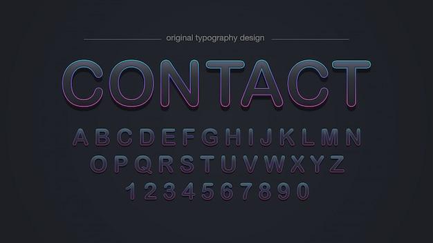 Typographie noire arrondie par trait coloré