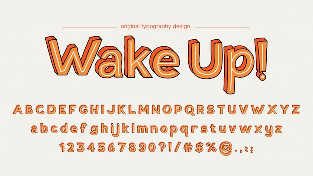 Typographie orange vif vintage