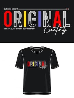Typographie originale pour t-shirt imprimé