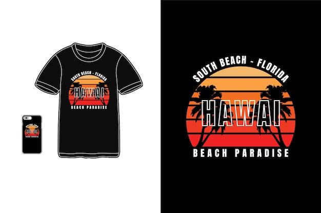 Typographie de paradis d'hawaï