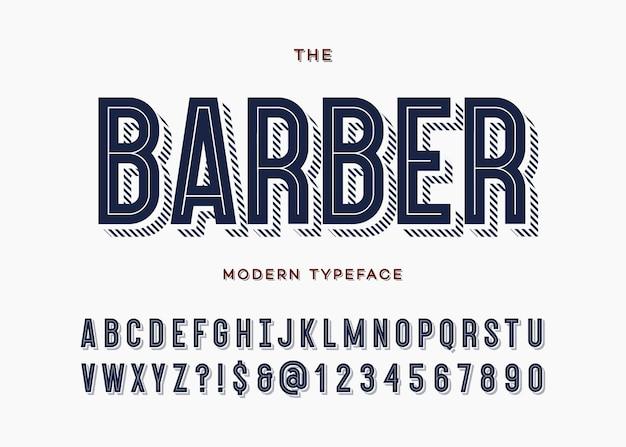 Typographie De Police Moderne Alphabet Sans Empattement Style De Ligne Colorée Pour L'affiche De La Fête Vecteur Premium