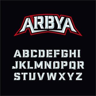 Typographie de polices modernes de sport