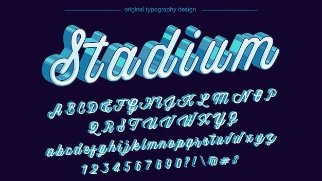 Typographie rétro bleu 3d