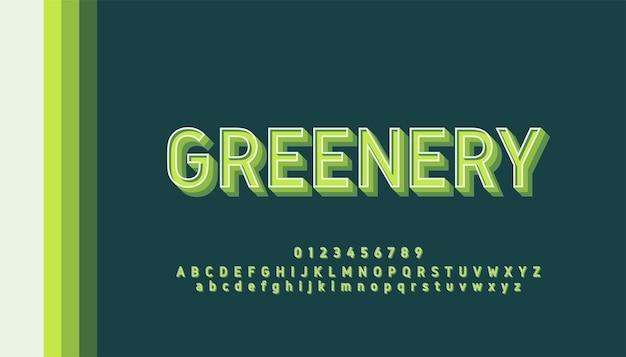 Typographie Rétro Pastel Couleur Lettres Et Chiffres Vecteur Premium