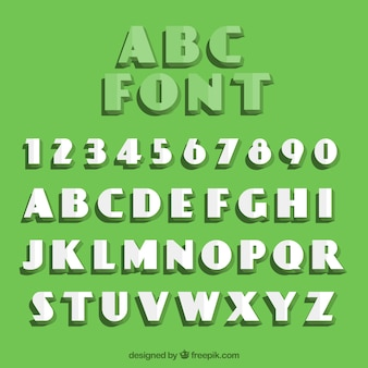 Typographie rétro avec des plis