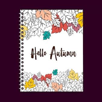 Typographie de la saison d'automne avec le vecteur créatif deisgn