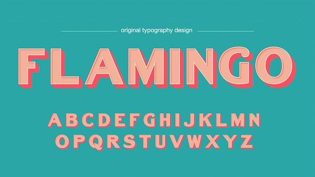 Typographie de saumon bold bevel vintage