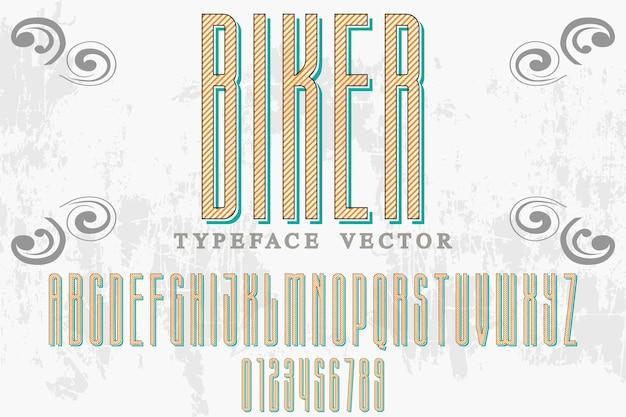 Typographie shadow effect étiquette design biker