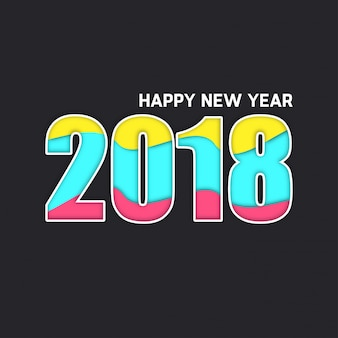 Typographie simple 2018 simple coloré 2018 typographie fond gris foncé