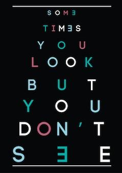Typographie, slogan et citation