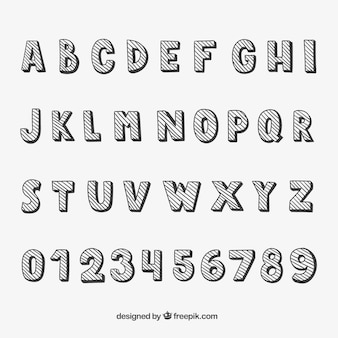 Typographie stripped