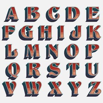 Typographie de style western à l'ancienne