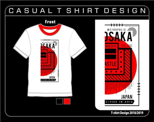 Typographie t shirt graphique