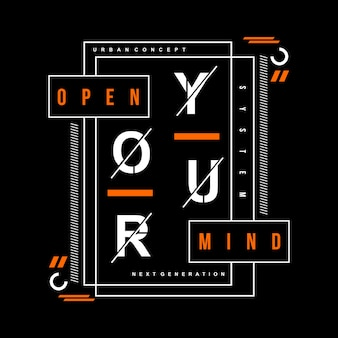 Typographie texte slogan, illustration vectorielle illustration