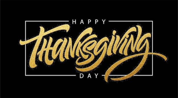 Typographie de thanksgiving pour carte de voeux