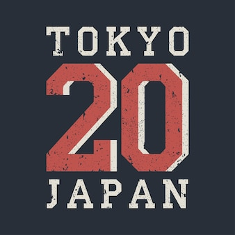 Typographie de tokyo japon pour les vêtements de conception tshirt graphiques pour produit imprimé avec grunge