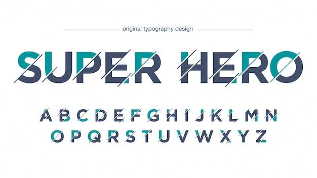 Typographie en tranches de sport abstrait