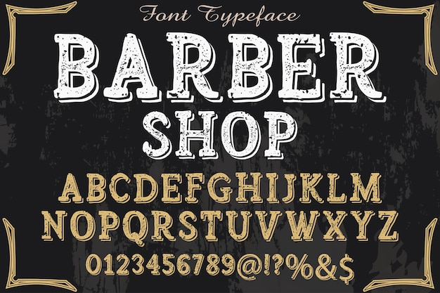 Typographie typographie font design barber shop