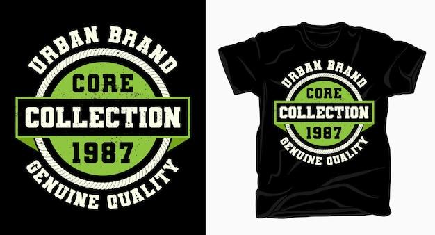 Typographie universitaire de la collection de base de la marque urbaine pour la conception de t-shirts