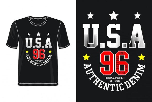 Typographie usa pour t-shirt imprimé