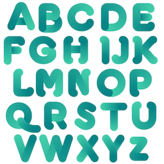 Typographie verte arrondie simple
