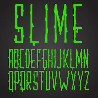 Typographie verte slime