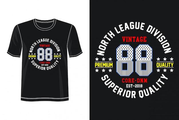 Typographie vintage 88 pour t-shirt imprimé