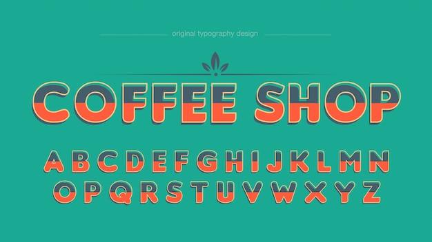 Typographie vintage café coloré