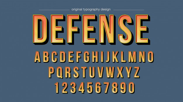 Typographie vintage orange vif