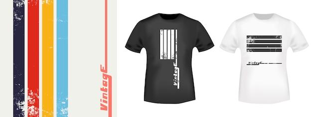 Typographie vintage pour timbre d'impression de t-shirt, applique de tee-shirt, slogans de mode, insigne, vêtements d'étiquette, jeans et vêtements décontractés. illustration vectorielle