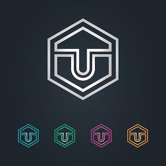 U logo hexagone